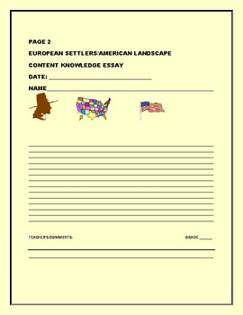 SOCIAL STUDIES: HISTORY OF AMERICA: CONTENT KNOWLEDGE ESSAY
