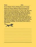 SOCIAL STUDIES/HISTORY WRITING RESEARCH PROMPT: HALLOWEEN: WITCHES