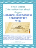 SOCIAL STUDIES INTERACTIVE NOTEBOOK PAGE - Urban, Suburb, Rural Communities Web