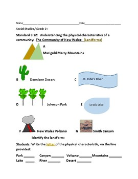 Geography and communities teaching resources teachers pay teachers social studies landforms grade 2 fandeluxe Images