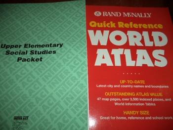 SOCIAL STUDIES PACKET  WORLD ATLAS  (SETOF 2)