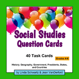 SOCIAL STUDIES QUESTION CARDS