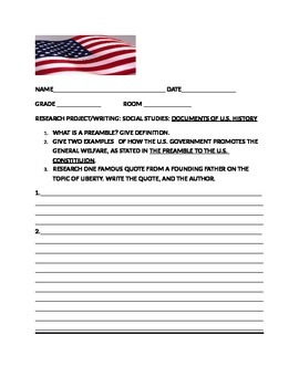 SOCIAL STUDIES RESEARCH PROJECT-PREAMBLE