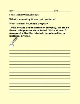 SOCIAL STUDIES WRITING PROMPT: LATIN PHRASES