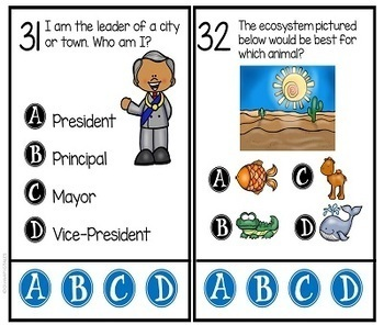 3rd Grade Social Studies Tasks and Center