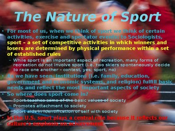 SOCIOLOGY - Sport PPT