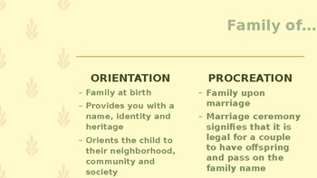 SOCIOLOGY - The Family PPT