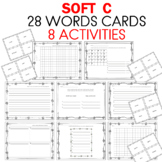 SOFT C WORD WORK Cards and Worksheets