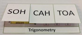 SOH CAH TOA Foldable Trigonometric Ratios