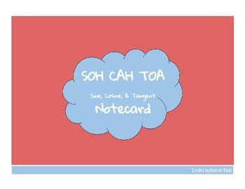 SOH CAH TOA Notecard