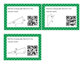 SOH-CAH-TOA Task Cards QR Codes