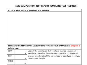 SOIL COMPOSITION TEST ACTIVITY