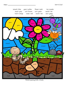 SOIL Color by Word FREEBIE Grade 2