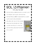SOL 1.3 First Grade Science Matter Study Guide