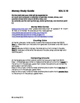 SOL 2.10 Money Study Guide