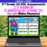 SOL 2.5 Add Sub within 20 Assessments - Google Slides - Distance Learning