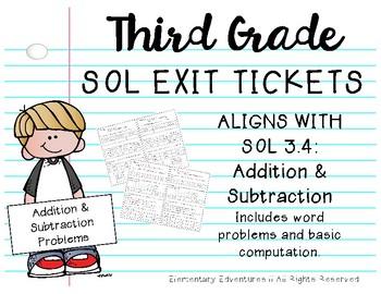 SOL 3.4 Exit Tickets