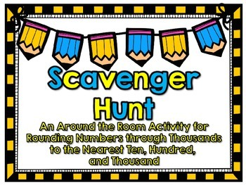 SOL 3.1 Rounding Numbers Through Thousands Scavenger Hunt