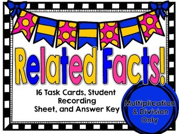 SOL 3.2 Related Facts Task Cards-Multiplication & Division Only