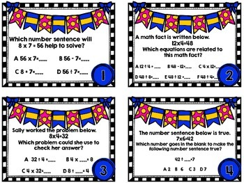 SOL 3.2 Related Facts Task Cards-Two Set Bundle