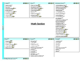 SOL 3rd  Grade TEI Self Checking Assignments, Reading & Math Games Test Prep