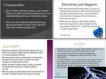 SOL 4.3 Electricity PowerPoints Bundle