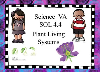 SOL 4.4 Study guide Plants Living Systems- Grade 4