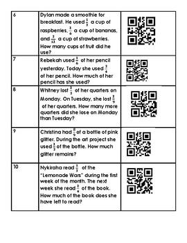 SOL 4.5 B and D Add and Subtract Fractions with Unlike Denominators QR CODE