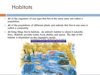 SOL 4.5: Habitats and Food Webs