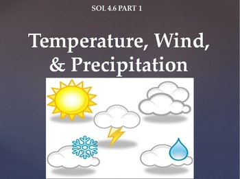 SOL 4.6: Temperature, Wind, & Precipitation Powerpoint