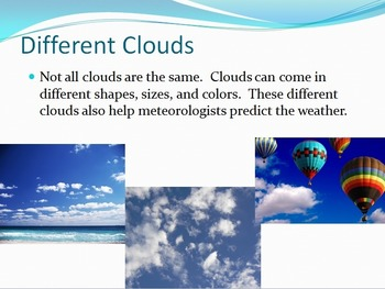 SOL 4.6: Types of Clouds Powerpoint