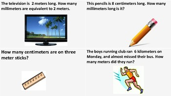 SOL 4.7 Conversion Word Problems- Metric Length