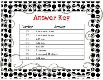 SOL 4.9/ Math Task Cards / Elapsed Time