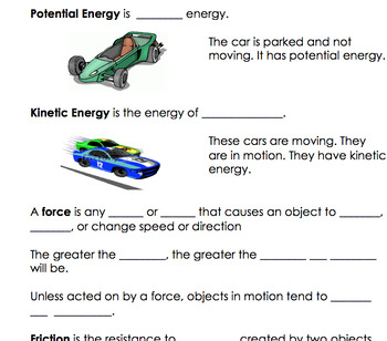 SOL 4.2 Force, Motion, and Energy Interactive Notes
