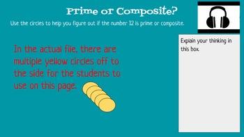 SOL 5.3 Odd, Even, Prime, Composite Blended Learning Instructional Google Slides