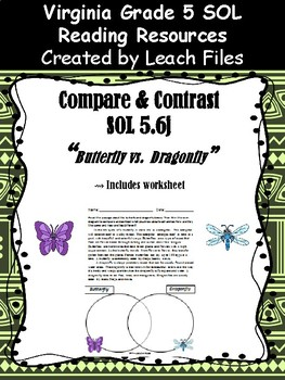 SOL 5.6j COMPARE&CONTRAST: BUTTERFLY VS DRAGONFLY