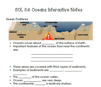 SOL 5.6 Oceans Interactive Notes