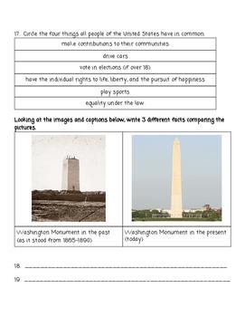 SOL ALIGNED Patriotism and Citzenship Test Assessment