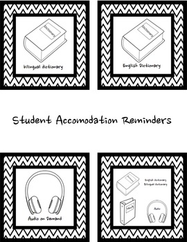 Testing Accomodation Reminders for ELLs