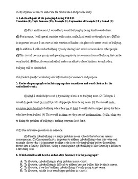 SOL ELA8 Multiple-Choice and TEI Practice Questions
