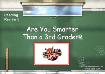 SOL Game Show Reading Review 5 - 3rd Grade