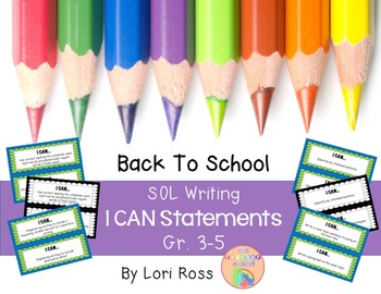 SOL I Can Statements {Writing} Gr. 3-5