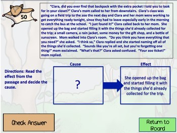 Nocturnal Animals 3rd Grade Reading Review Game