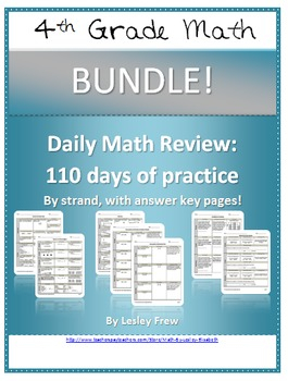 SOL (2009) Morning Work by Strand - 4th Grade Math BUNDLE