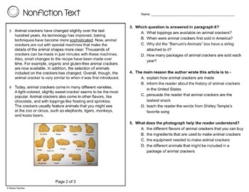 SOL Non-Fiction Practice Worksheets (SOL 4.4 and 4.6)