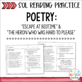 SOL Poetry Practice Worksheets (SOL 4.4 & 4.5) - Print & Digital