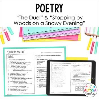 SOL Poetry Practice Worksheets (SOL 5.5)