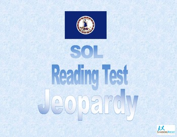SOL Reading  Test Jeopardy Game