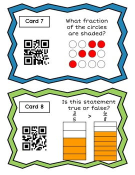 SOL Review 3rd Grade Math Number Sense Strand QR Code Self Checking Task Cards