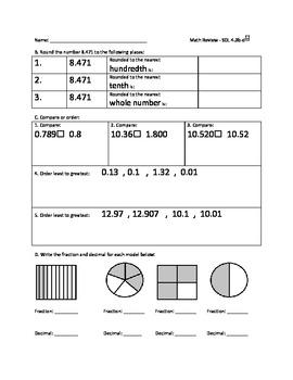 SOL (2009) Review - 4th Grade Math